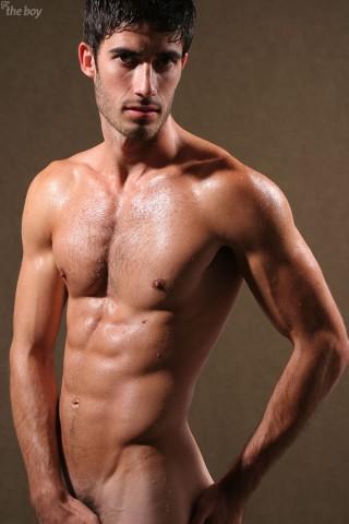 Hunks wet and nude